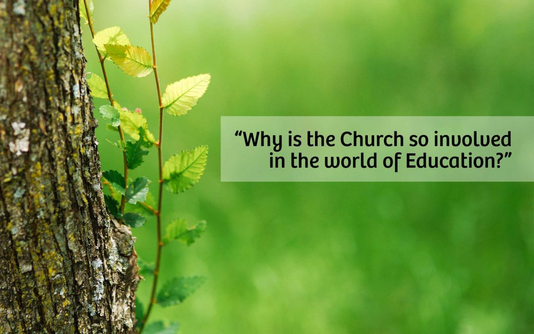 Why is the Church so involved in the world of Education?