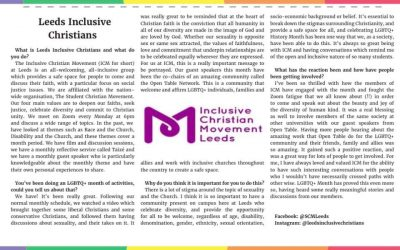 Day 25: 17th March – Inclusive Christian Movement